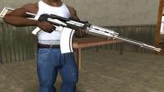White with Black AK-47