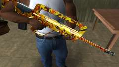 Golden AUG A3 para GTA San Andreas