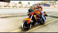 Kawasaki Z250SL Orange para GTA San Andreas