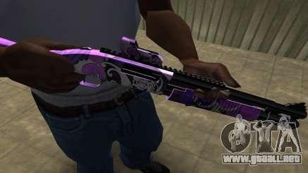 Purple World Shotgun para GTA San Andreas