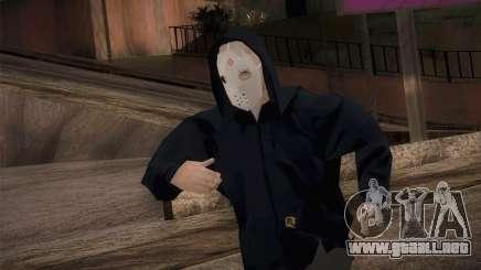 Mercenario de la mafia en la capucha y la máscara para GTA San Andreas
