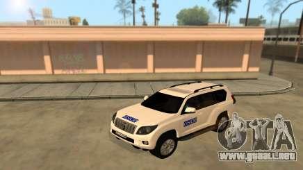 Toyota Land Cruiser de la OSCE (ОБСЕ) para GTA San Andreas