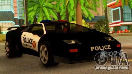 Lamborghini Diablo Police SA Style para GTA San Andreas