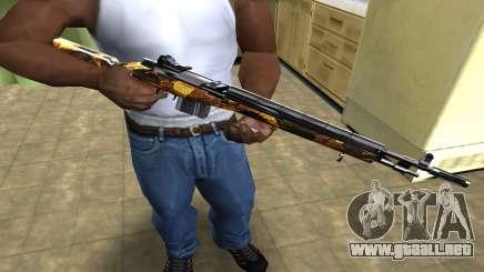 Gold Rifle para GTA San Andreas