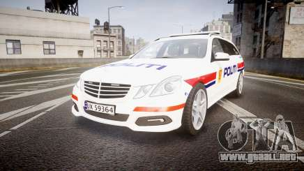 Mercedes-Benz E63 AMG Estate 2012 Police [ELS] para GTA 4