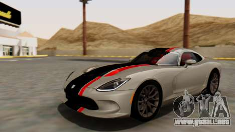 Dodge Viper SRT GTS 2013 HQLM (HQ PJ) para la vista superior GTA San Andreas