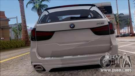 BMW X5 F15 BUFG Edition para la visión correcta GTA San Andreas