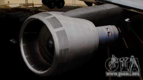 Boeing 747 Singapore (Old) para la visión correcta GTA San Andreas
