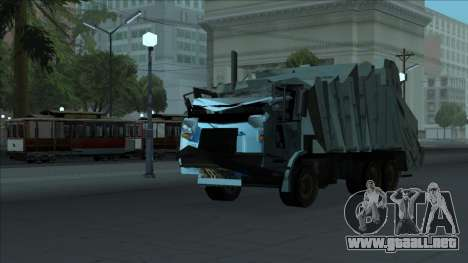 TDK Volvo Xpeditor Garbage Crash Version para visión interna GTA San Andreas