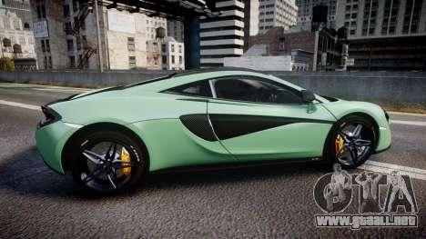 McLaren 570S 2015 rims2 para GTA 4 left