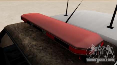 Police Ranger with Lightbars para la visión correcta GTA San Andreas