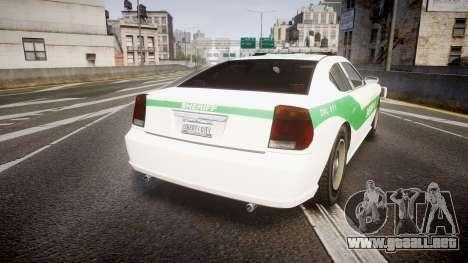 Bravado Buffalo Police [ELS] para GTA 4 Vista posterior izquierda