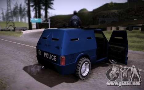 El Coche Blindado. para GTA San Andreas vista hacia atrás