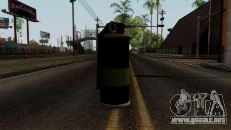 Original HD Tear Gas para GTA San Andreas segunda pantalla