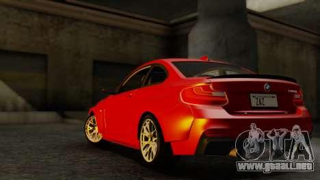 BMW M235i F22 Sport 2014 para la visión correcta GTA San Andreas