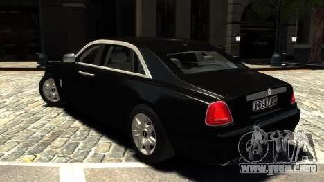 Rolls-Royce Ghost 2013 v1.0 para GTA 4 Vista posterior izquierda