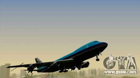 Boeing 747-200B KLM para la visión correcta GTA San Andreas