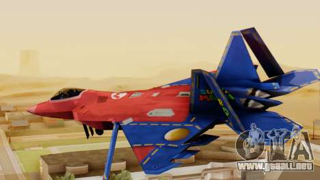F-22 Raptor MARIO para GTA San Andreas left