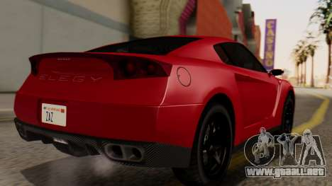 GTA 5 Annis Elegy RH8 IVF para GTA San Andreas left