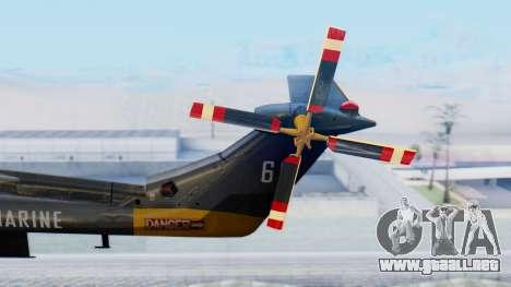 Westland SH-14D Lynx para GTA San Andreas vista posterior izquierda