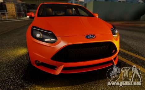 Ford Focus ST 2012 para vista lateral GTA San Andreas