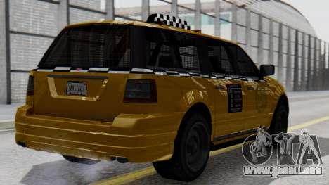 Vapid Landstalker Taxi SR 4 Style para GTA San Andreas left