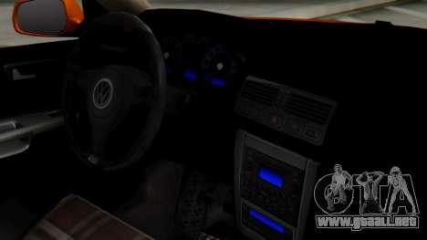Volkswagen Golf Mk4 para la visión correcta GTA San Andreas