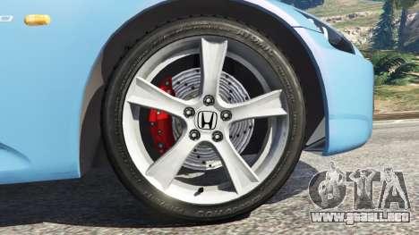 GTA 5 Honda S2000 vista lateral trasera derecha