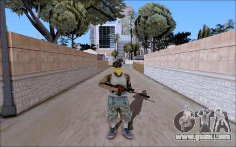 M4A1 Crimzone para GTA San Andreas segunda pantalla