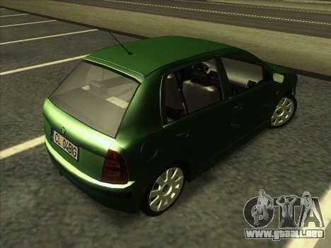 Skoda Fabia 2001 para la visión correcta GTA San Andreas