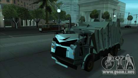 TDK Volvo Xpeditor Garbage Crash Version para vista inferior GTA San Andreas