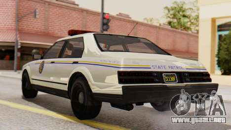 GTA 5 Albany Esperanto Police Roadcruiser IVF para GTA San Andreas left