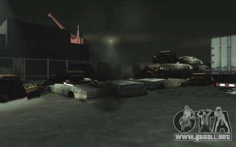 Automotriz depósito de chatarra v0.1 para GTA San Andreas twelth pantalla