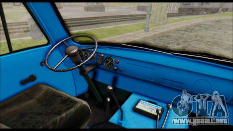 UAZ 2206 para la visión correcta GTA San Andreas