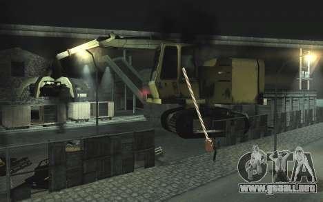 Automotriz depósito de chatarra v0.1 para GTA San Andreas segunda pantalla