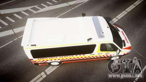 Mercedes-Benz Sprinter NSW Ambulance [ELS] para GTA 4 visión correcta
