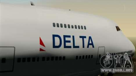 Boeing 747 Delta para la visión correcta GTA San Andreas
