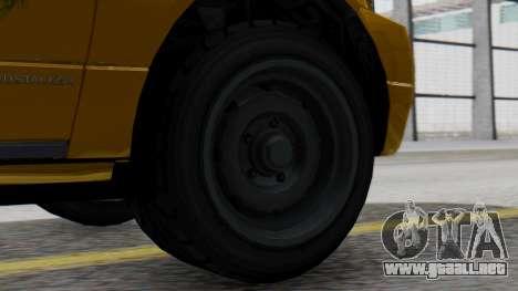 Vapid Landstalker Taxi SR 4 Style para GTA San Andreas vista posterior izquierda
