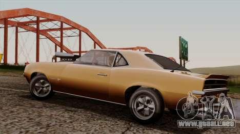GTA 5 Declasse Vigero para GTA San Andreas vista posterior izquierda
