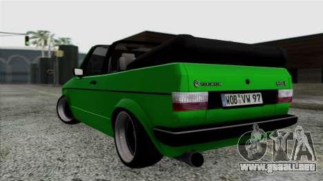 Volkswagen Golf Cabrio VR6 para GTA San Andreas left