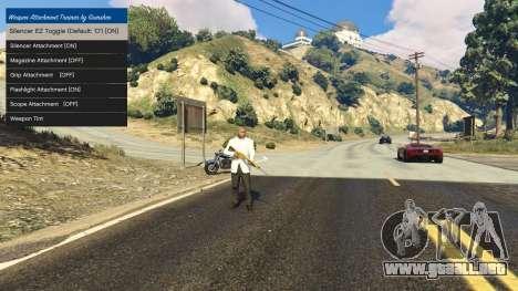 GTA 5 Tuning accesorios para armas 1.1 segunda captura de pantalla