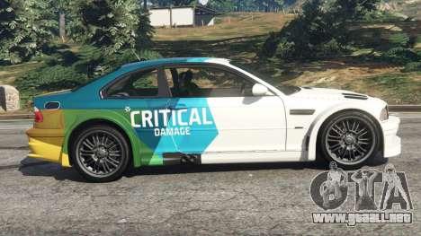 GTA 5 BMW M3 GTR E46 PJ1 vista lateral izquierda