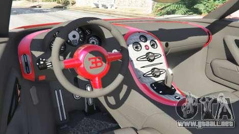 GTA 5 Bugatti Veyron Grand Sport vista lateral trasera derecha