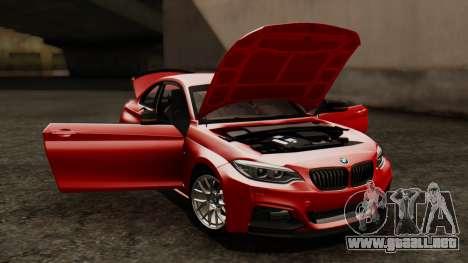 BMW M235i F22 Sport 2014 para la vista superior GTA San Andreas