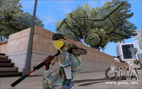 M4A1 Crimzone para GTA San Andreas tercera pantalla