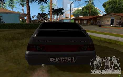 VAZ 2112 Lipetsk para GTA San Andreas vista posterior izquierda