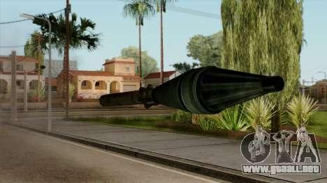 Original HD Missile para GTA San Andreas tercera pantalla