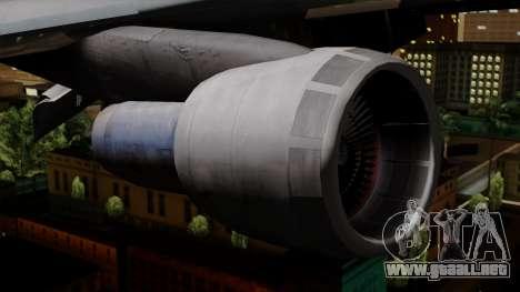 Boeing 747 TWA para la visión correcta GTA San Andreas