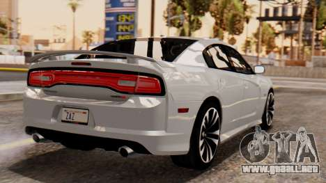 Dodge Charger SRT8 2012 LD para GTA San Andreas left