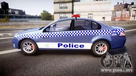 Ford Falcon FG XR6 Turbo NSW Police [ELS] para GTA 4 left